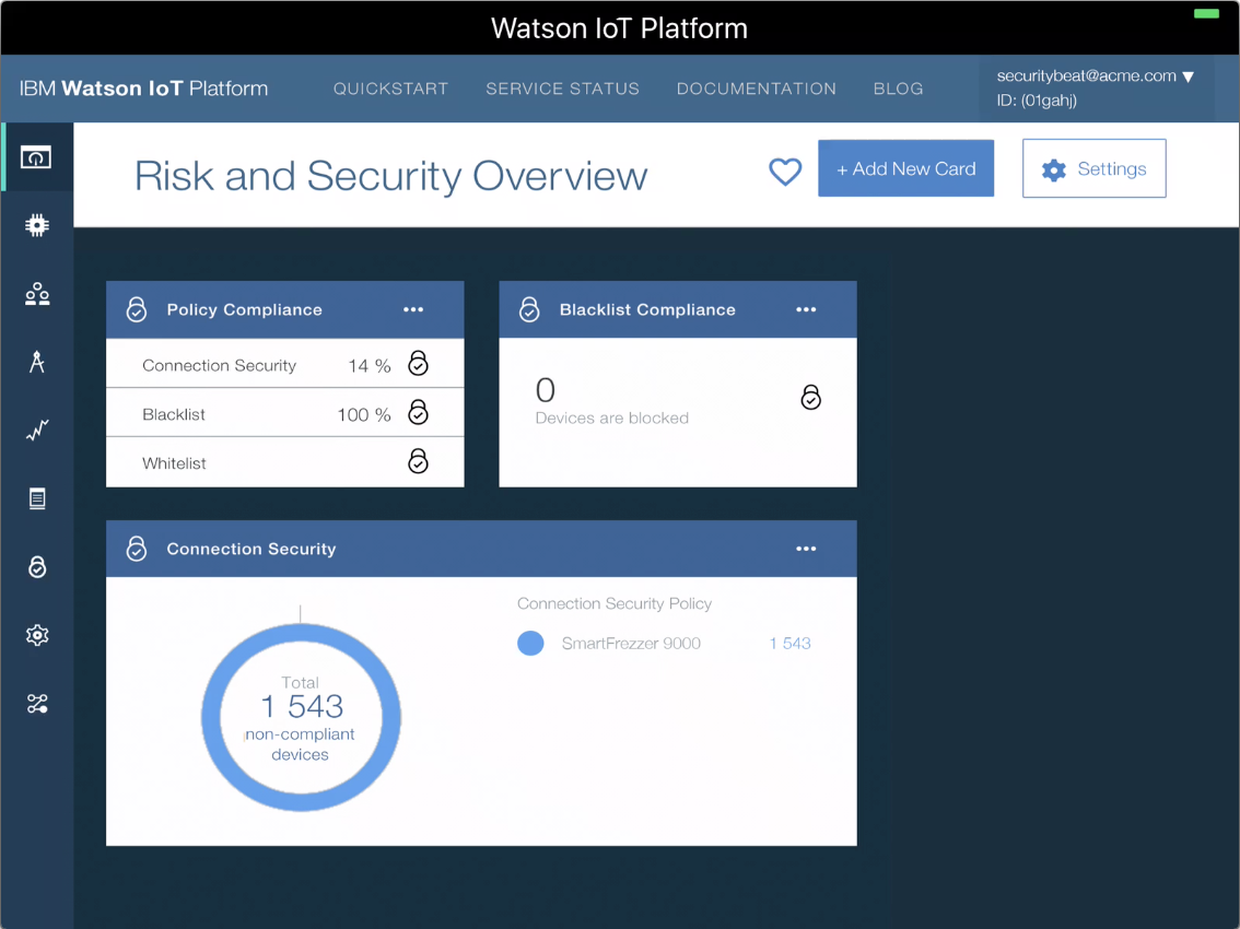 Watson IoT Platform Risk and Security Policies